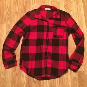 Red and black oversized shirt